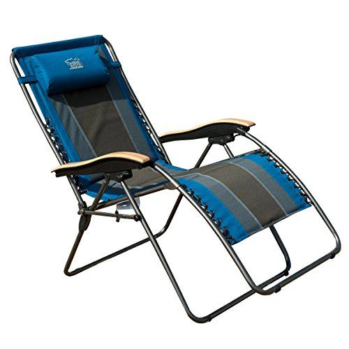 Timber Ridge Oversized XL Padded Zero Gravity Chair   Beachfront Decor