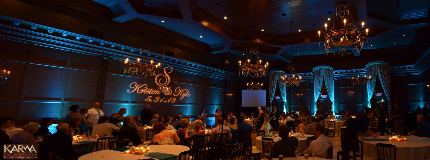 Lovely Blue Uplighting And Gobo Get The Look At Rentmywedding