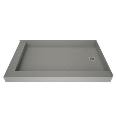 Tile Redi 30 In X 48 In Double Threshold Shower Base With Right Drain Gray In 2019 Shower Base Tile Redi Shower Wall Kits