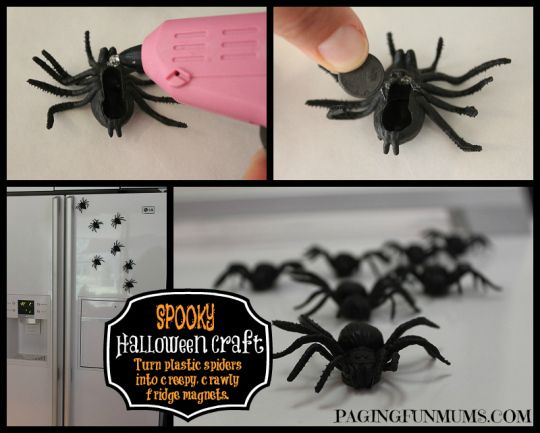 Easy Spider Magnets for Halloween Magnets, Spider and Craft - spiders for halloween decorations