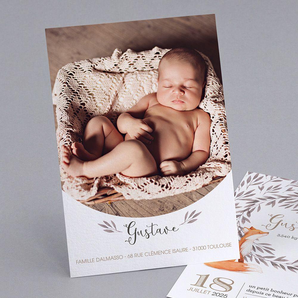 Faire-part de naissance personnalisés, faire-partoriginal, animaux fpc