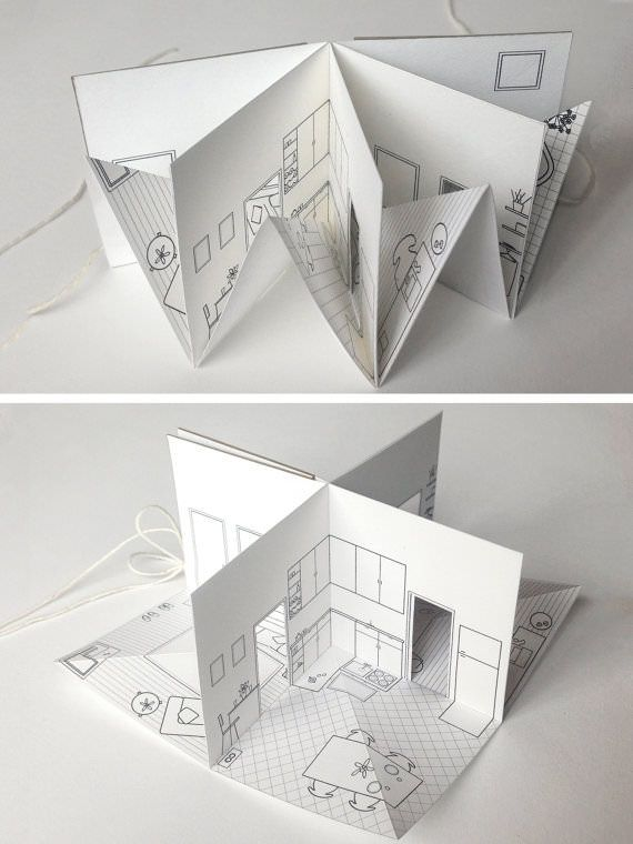 paper house small illustrated pop up book book making for rh pinterest com