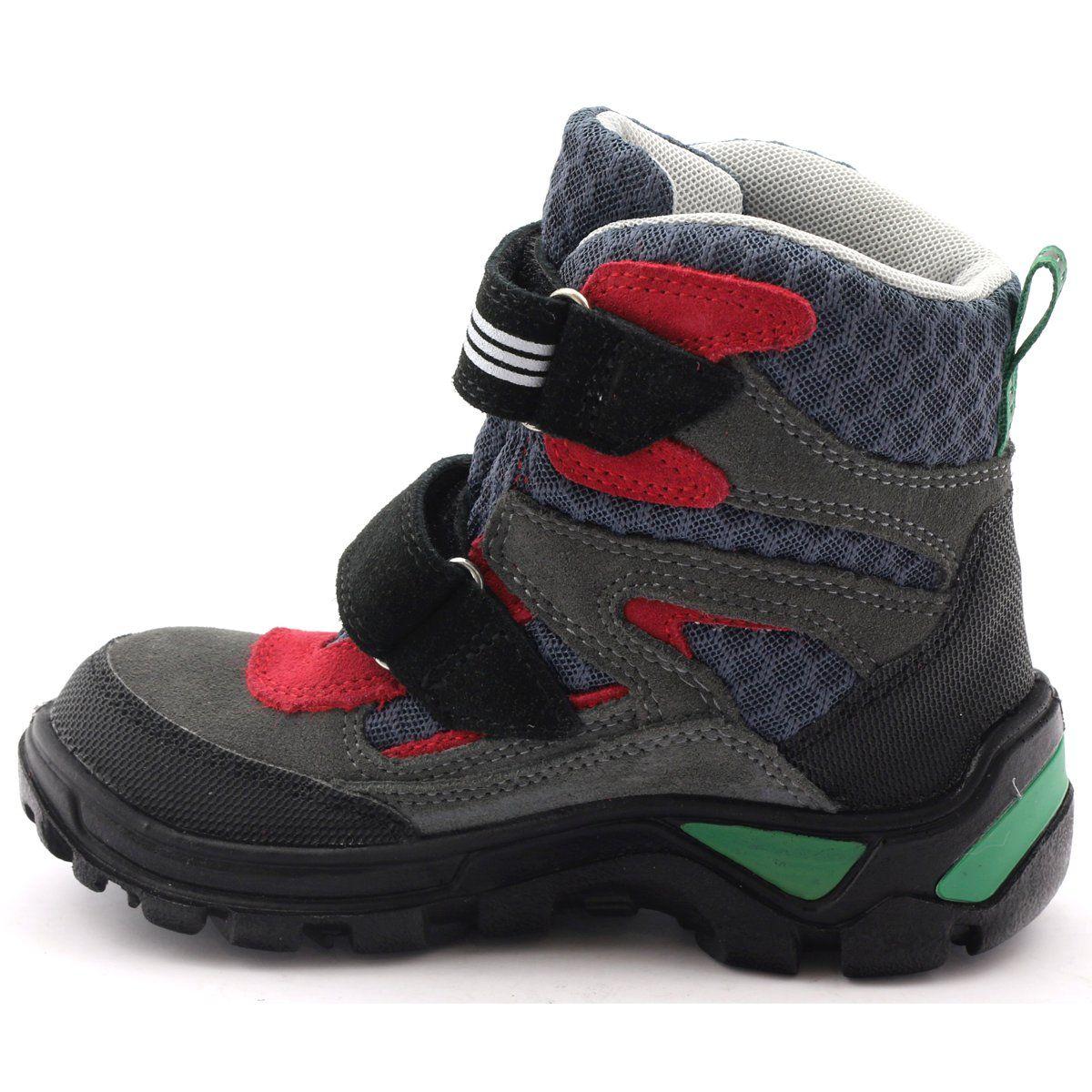 Trzewiki Z Membrana Bartek 94673 Szare Czerwone Zielone Czarne Hiking Boots Boots Shoes