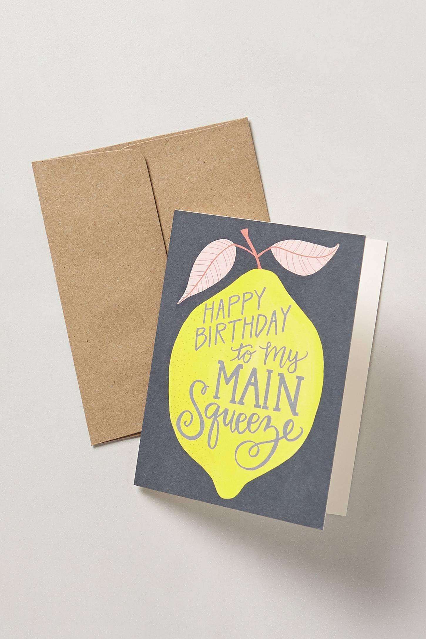 Main Squeeze Birthday Card Dad Birthday Card Creative Birthday Cards Homemade Birthday Cards