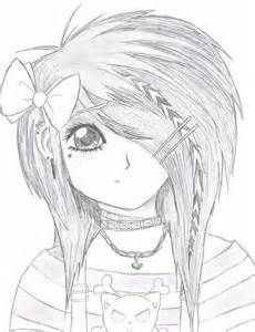 Anime Girl Neko Coloring Pages Emo Anime Girl by StarFirer Art