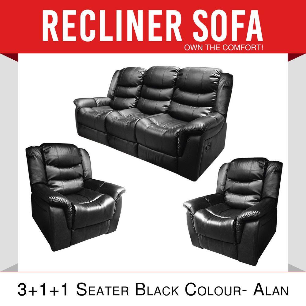 Best New Recliner 3R 1R 1R Black Multi Positions Alan Pre Sale 400 x 300