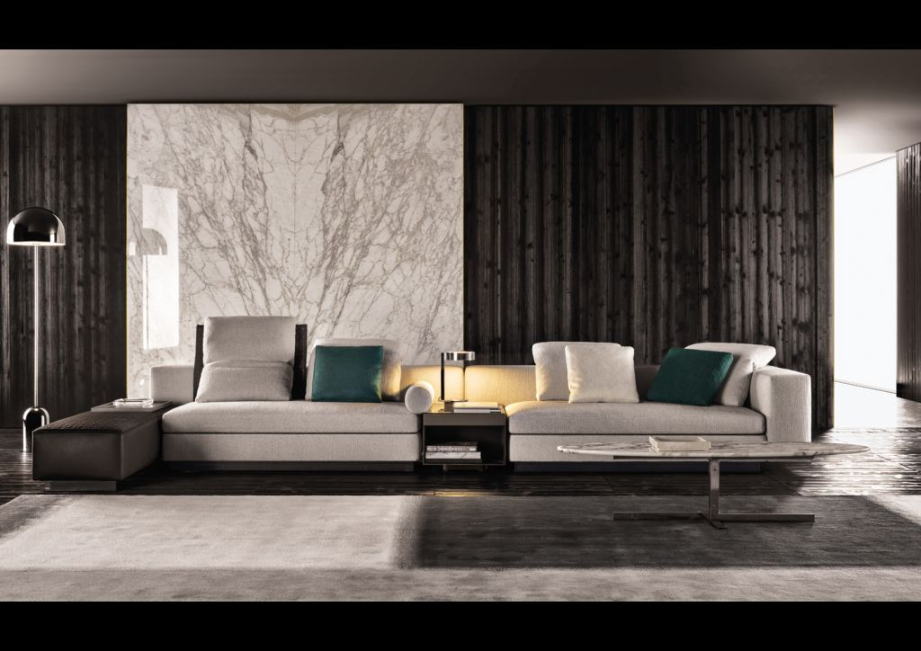 Minotti Mobili ~ The yang sofa by minotti is one of the innovations shown at the