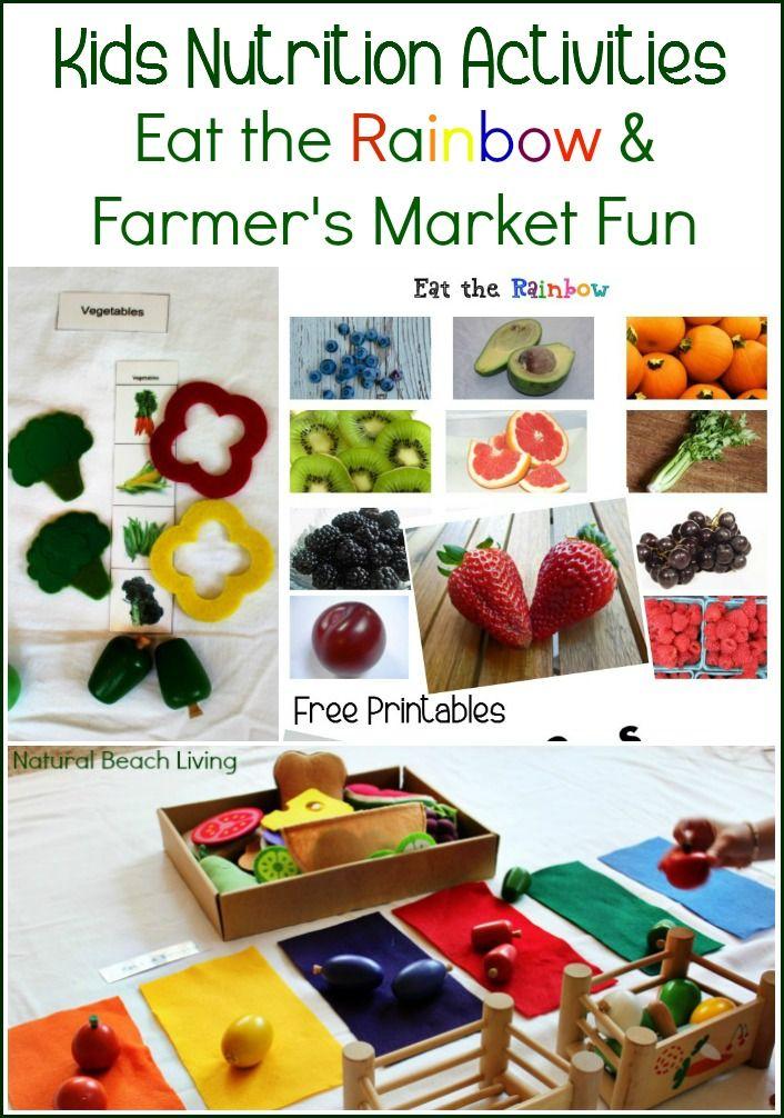 Kids Nutrition Activities Farmer's Market Healthy Eating