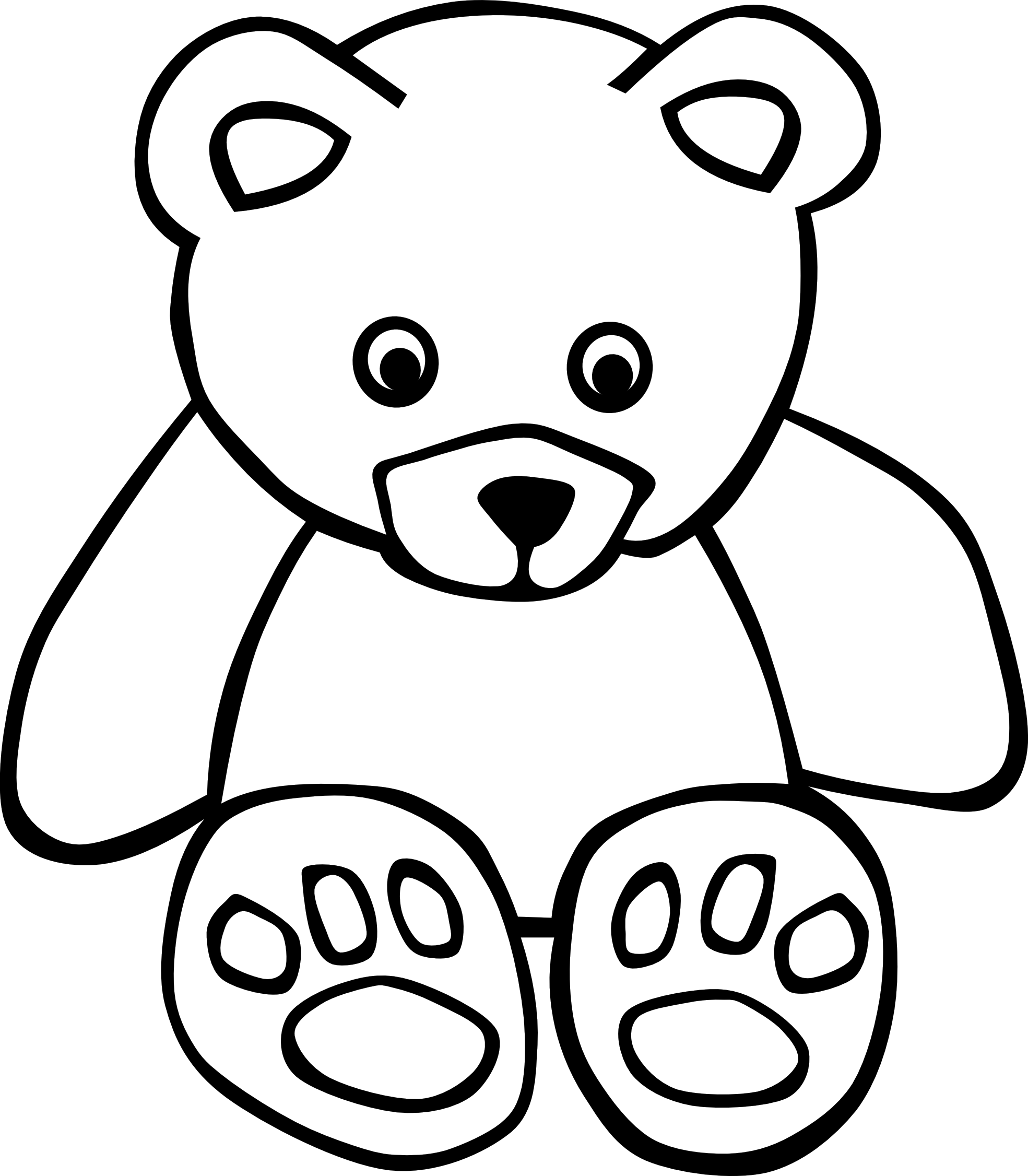 1271715 83 bear black white line art teddy bear clipart best rh pinterest com cute teddy bear clipart black and white