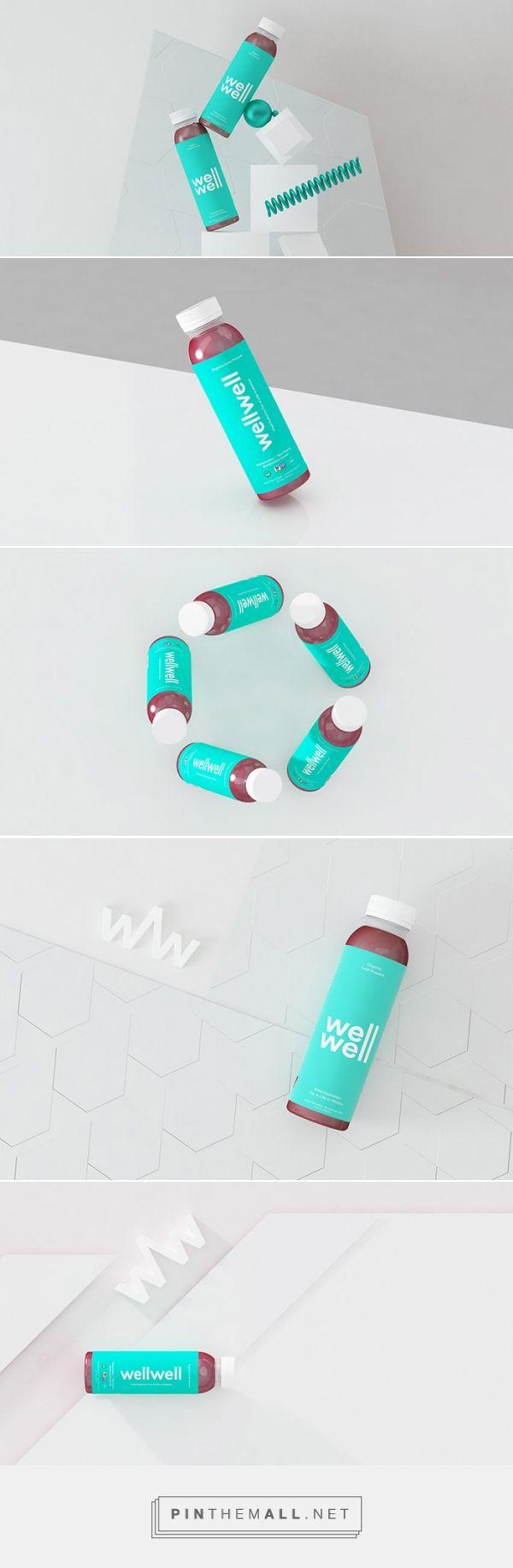 Well Well - Packaging renders for juice brand / designed by Danny Jones