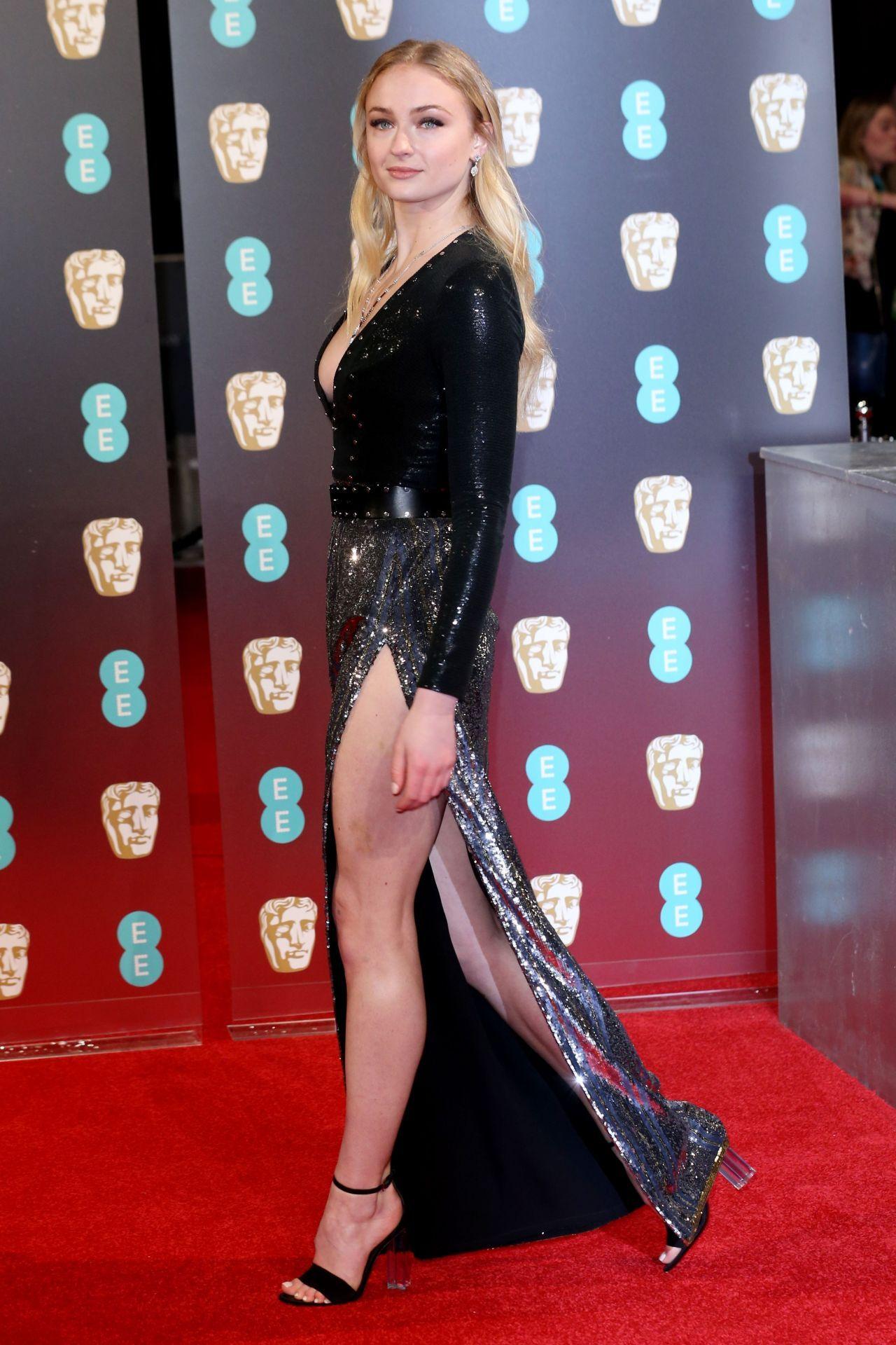 Sophie Turner in Louis Vuitton at 2017 BAFTA Awards in London