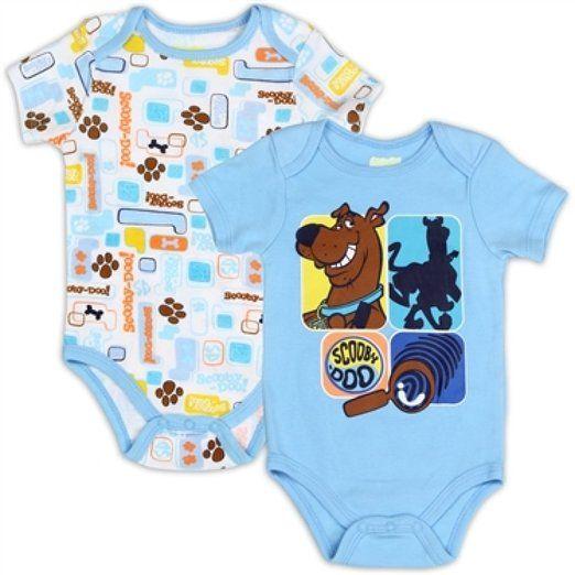 62cc3cf8b93b Scooby Doo 2 Pack of Infant Onesies (0-3M)