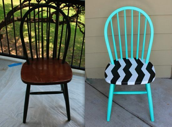 diy chair makeover (for all the ugly chairs at yard sales!).