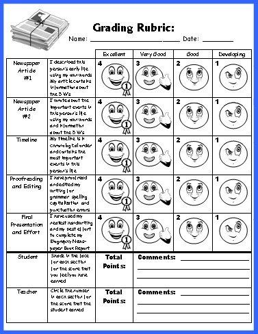 Biography Book Report Newspaper templates, worksheets, and - biography template
