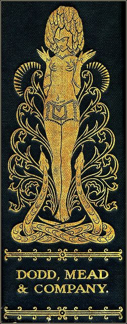 Spine illustration by Harry Clarke (1889–1931) for The Selected Poems of Swinburne, 1928. Harry Clarke was an Irish stained glass artist and book illustrator. Born in Dublin, he was a leading figure in the Irish Arts and Crafts Movement