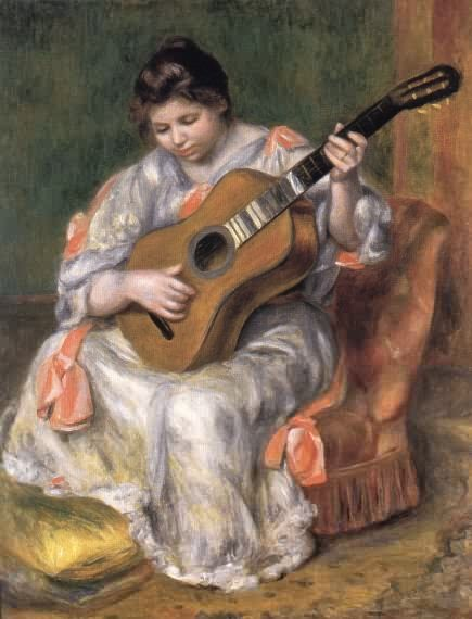 Quot Woman Playing The Guitar Quot By Pierre Auguste Renoir