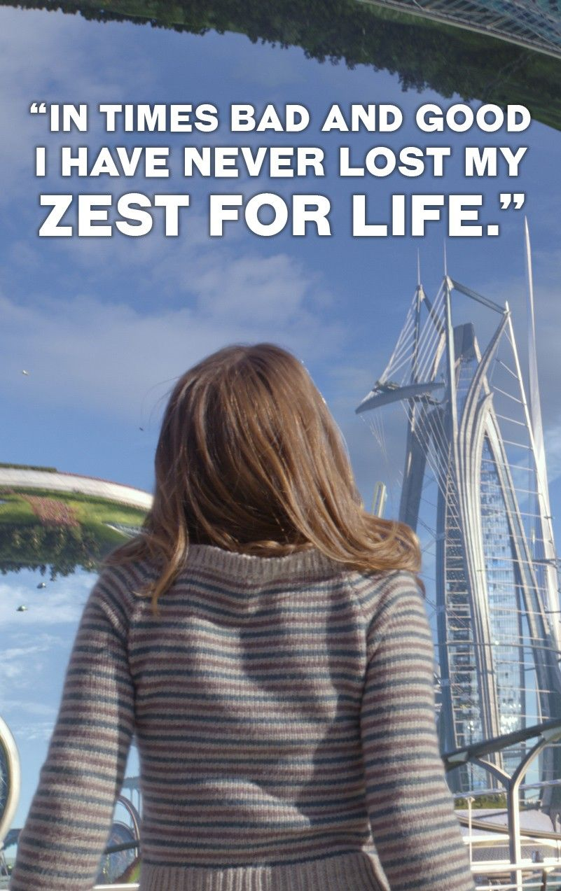 """""""In times bad and good I have never lost my zest for life."""" -Walt Disney. Tomorrowland is out on Blu-ray™, Digital HD & Disney Movies Anywhere Oct. 13"""