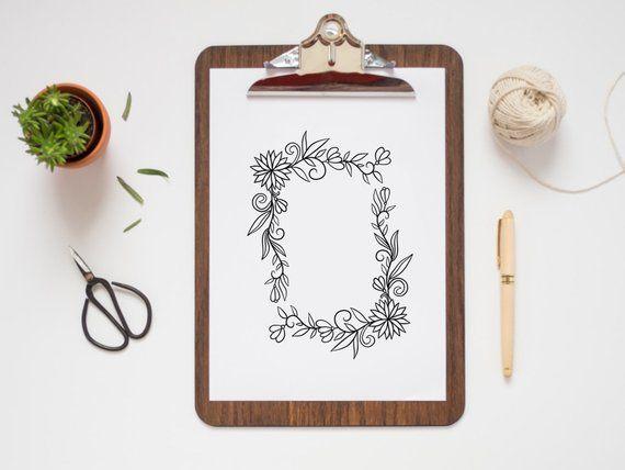 Photo of FLOWER FRAMES, hand-drawn wreaths, doodle clipart, rustic, drawn wreaths, png, svg, vector wreaths, wedding, laurels, cute wreaths, frames
