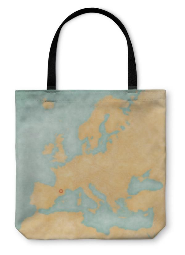 Tote Bag, Map Of Europe And...