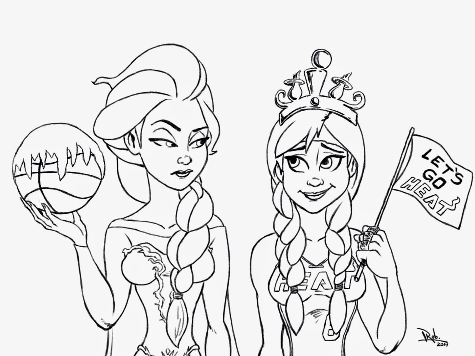 Frozen Miami HEAT Coloring Page