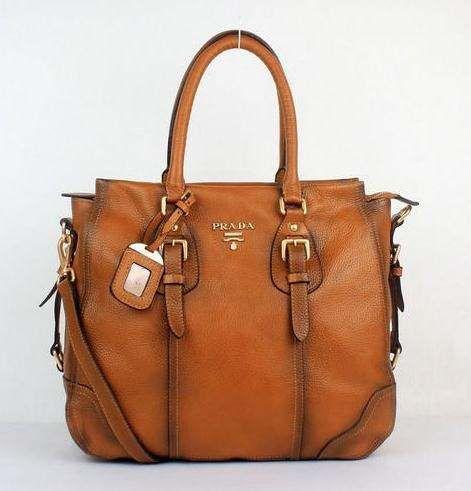 Prada bags and Prada handbags Prada 8033 Camel Totes