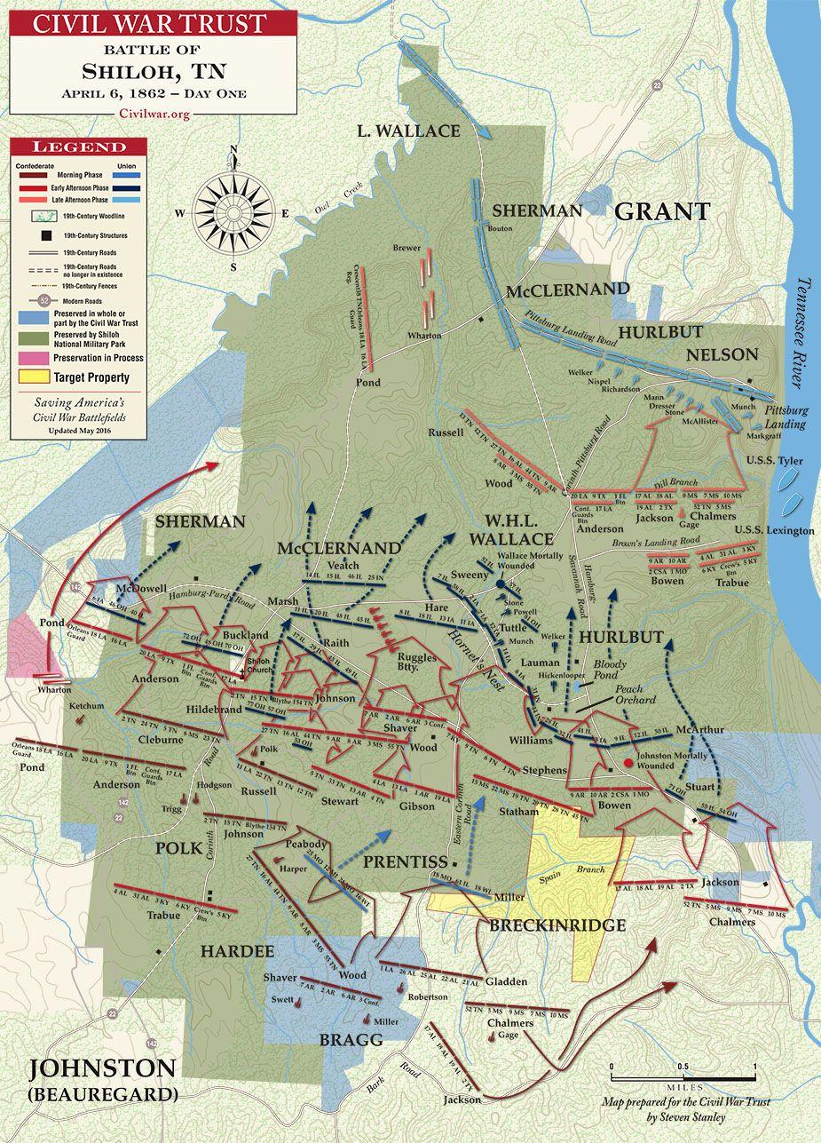 Battle Of Shiloh April Karinas Pinterest Shiloh - Us map 1862