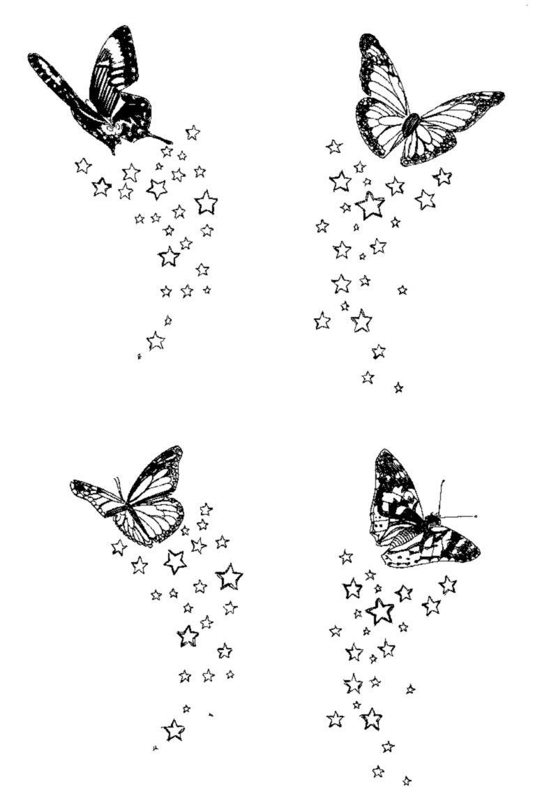 Tatouage papillon tattoocompris tatouage tatouage papillon poignet tatouage papillon et - Modele de papillon ...
