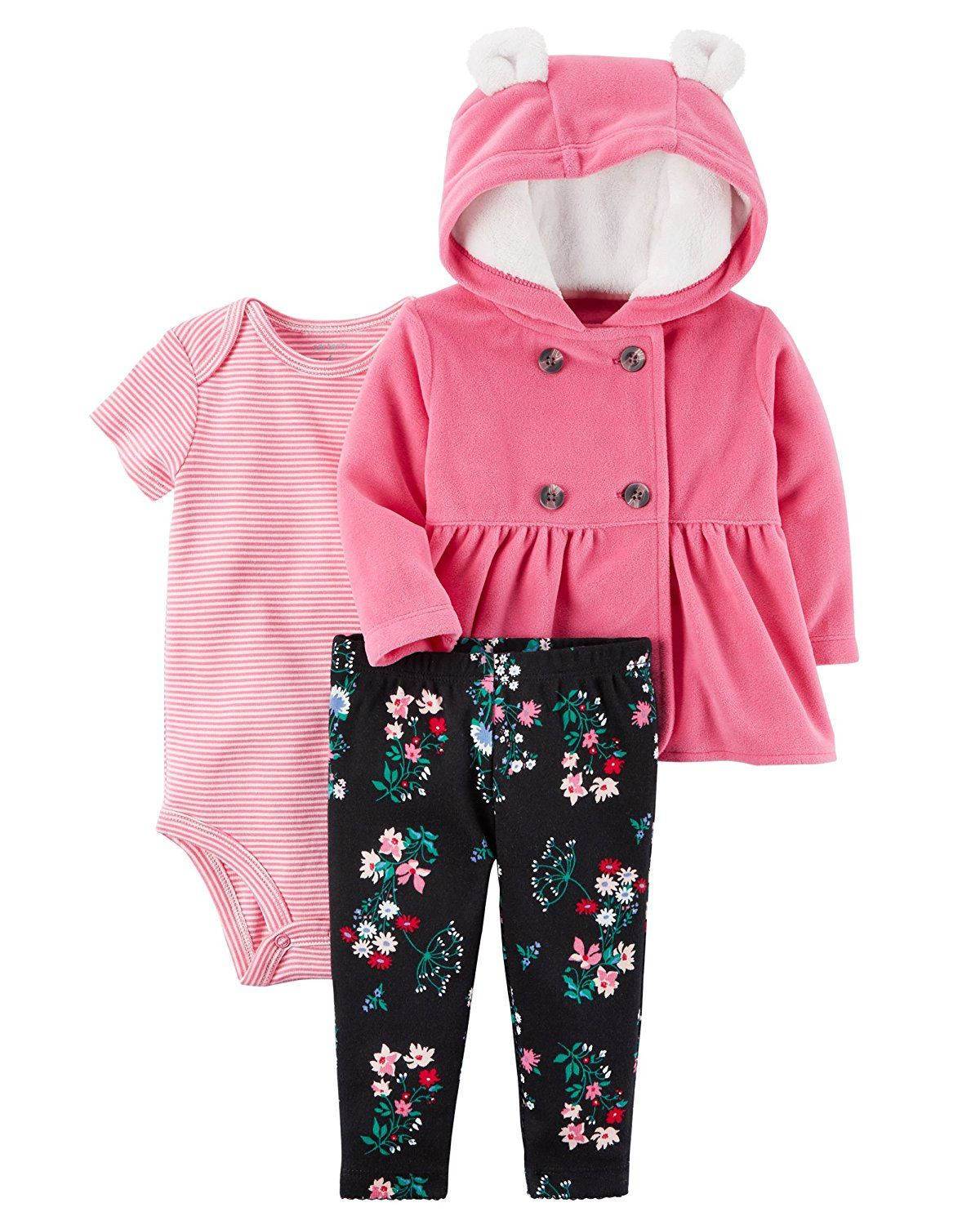 61a6e0b800db Amazon.com  Carter s Baby Girls  Cardigan Sets 121g778  Clothing ...