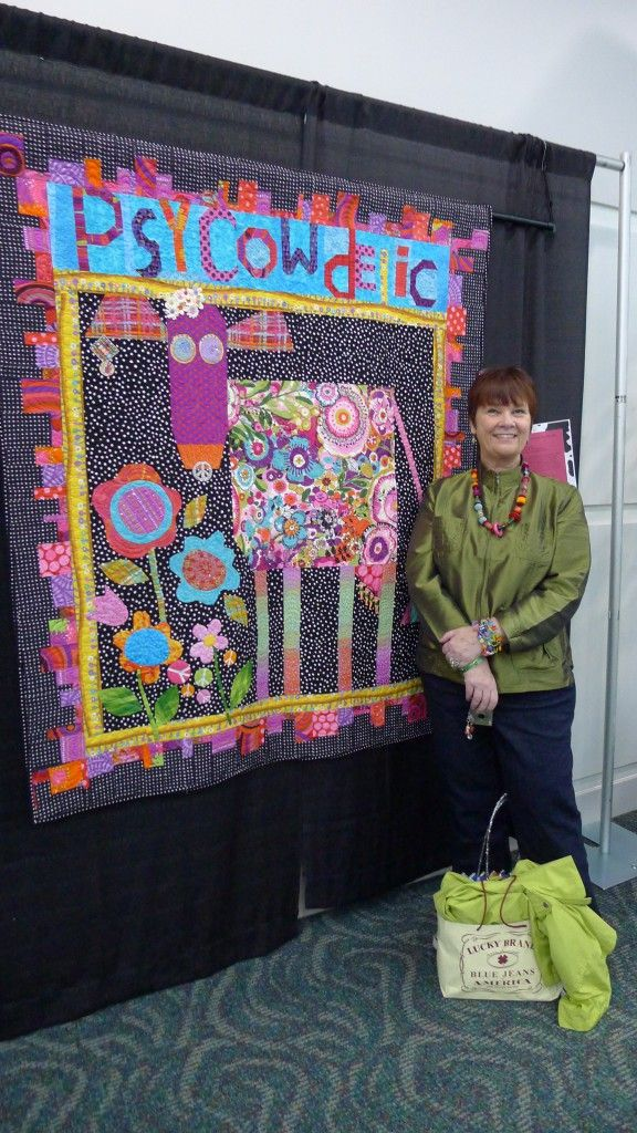 What a Happy Mary Lou Weidman at Road to California Quilt show! :0 ... : california quilt shows - Adamdwight.com