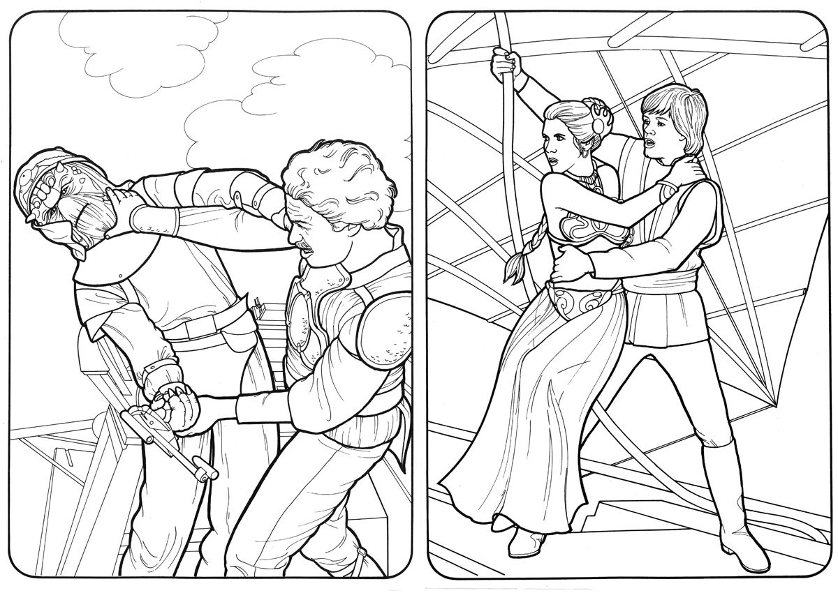 Beerandrobots 1983 Return Of The Jedi Coloring Book Pages Star Coloring Pages Coloring Pages Star Wars Drawings