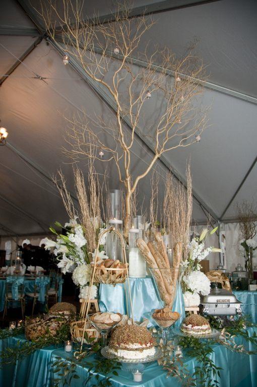 Elegant Buffet Seated Wedding Reception Nashville Catering Food