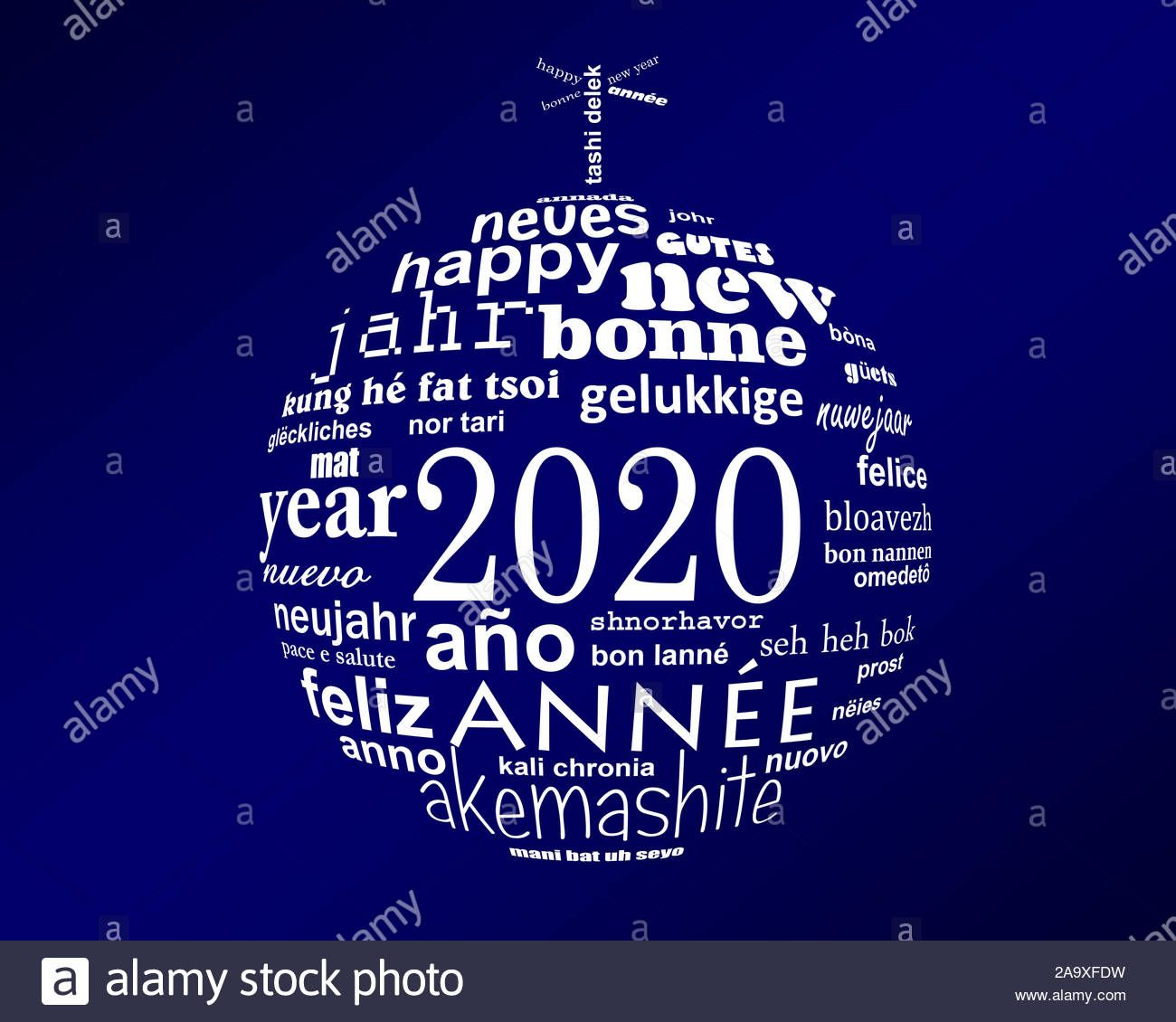 Download this stock image 2020 new year white and blue