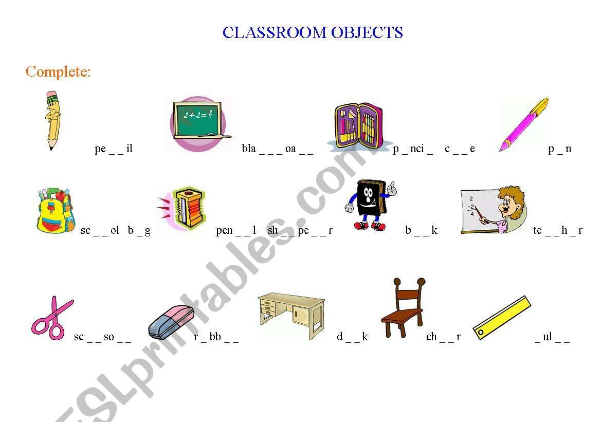 Worksheet For The Very Beginners In