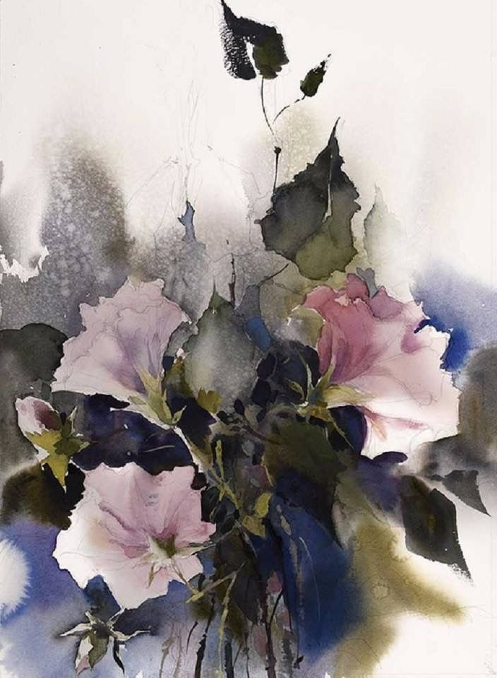 Pin By Mirah Paris On Watercolor Watercolor Flowers Floral