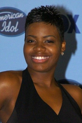 Fantasia Hairstyles fantasia barrino had her locks styled in a curled do at the super bowl gospel Short Hair Styles