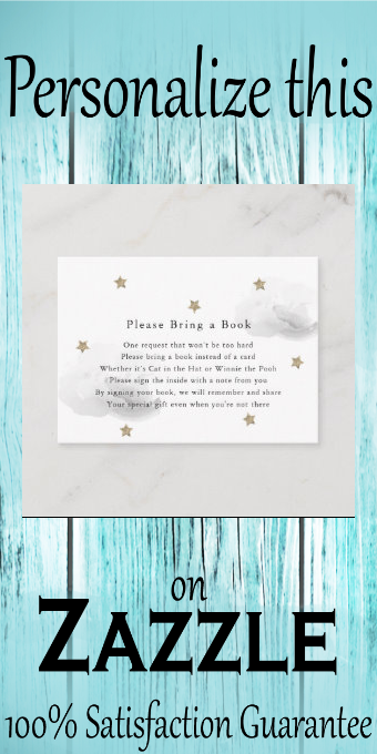 Gold Stars & Gray Clouds Please Bring a Book Card #please #bring #a #book #card