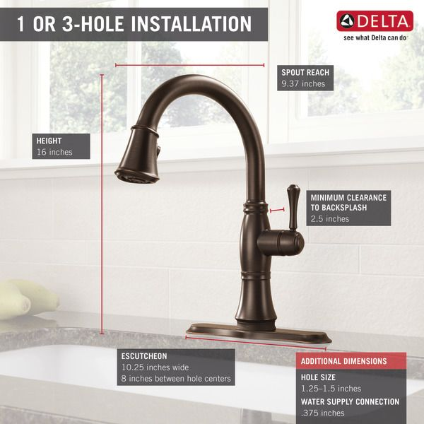 9197T-RB-DST - Single Handle Pull-Down Kitchen Faucet with Touch2O