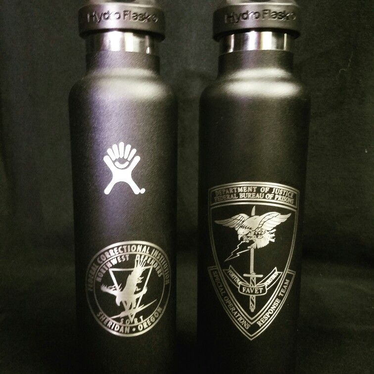 Hydro Flasks Engraved For Sheridan Correctional Facility
