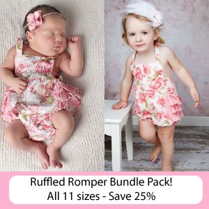 1d8491d4af79 Download Bundle Pack  Ruffled Bubble Rompers - 11 sizes! Sewing Pattern