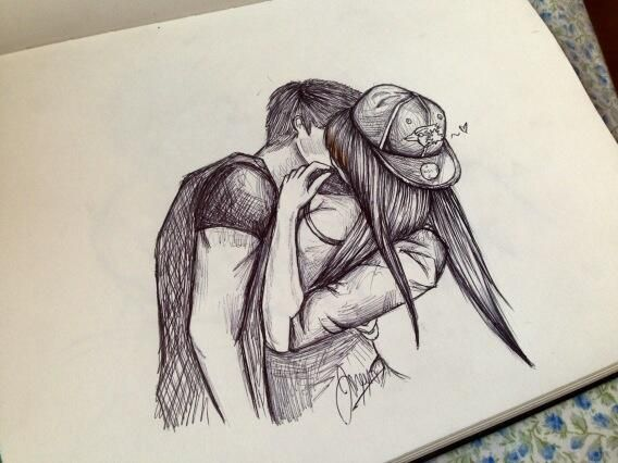 ideas couple Tumblr cute drawing