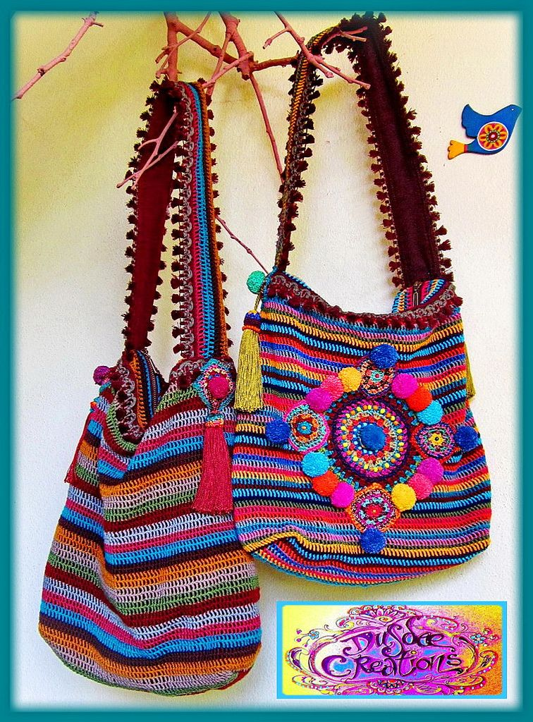 ~ Colorful crochet bags by me ~