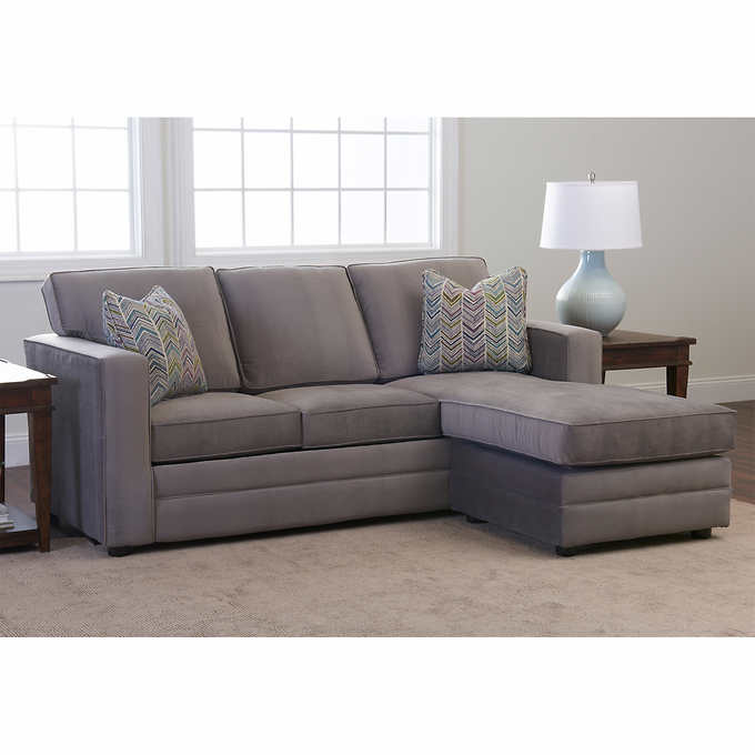Beeson Fabric Queen Sleeper Reversible Sectional Corner Sofa