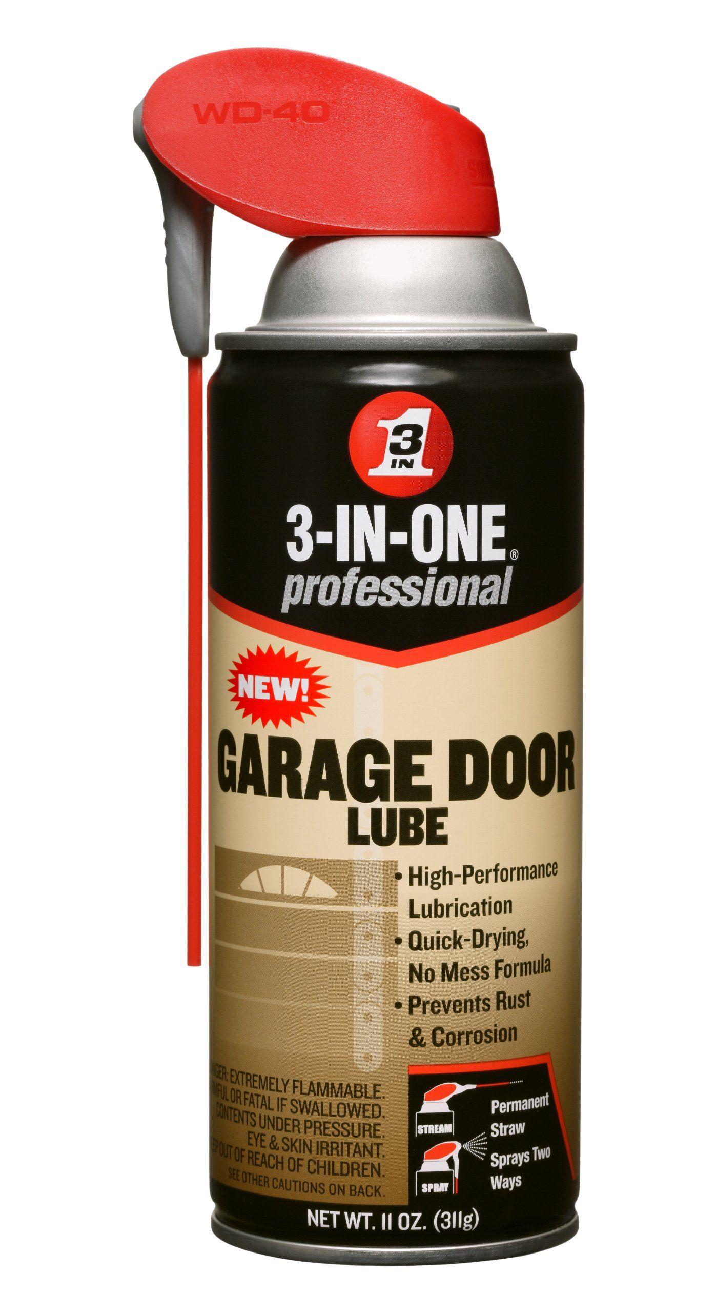3 In One 100584 Professional Garage Door Lubricant Spray 11 Oz Pack Of 1 Garage Door Lubricant Garage Doors Garage