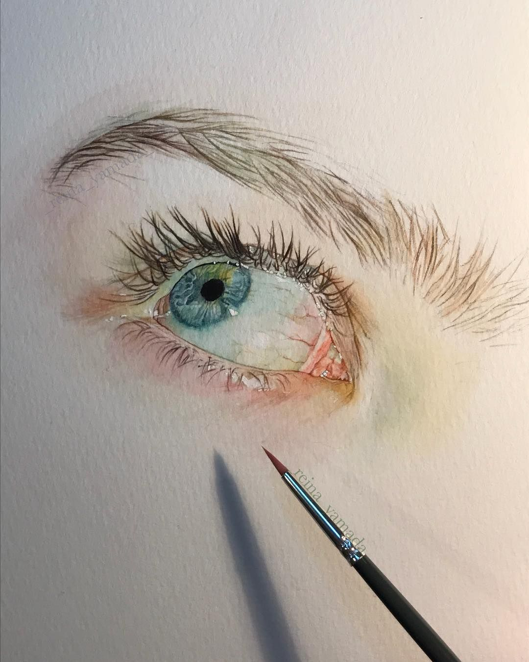Watercolor Art By Reina Yamada Yeux Dessin Portrait Dessin Et