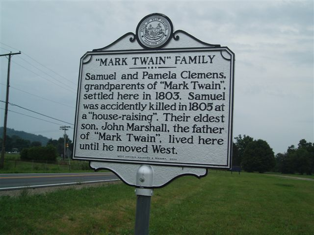 Image result for mark twain grandparents sign mason county wv
