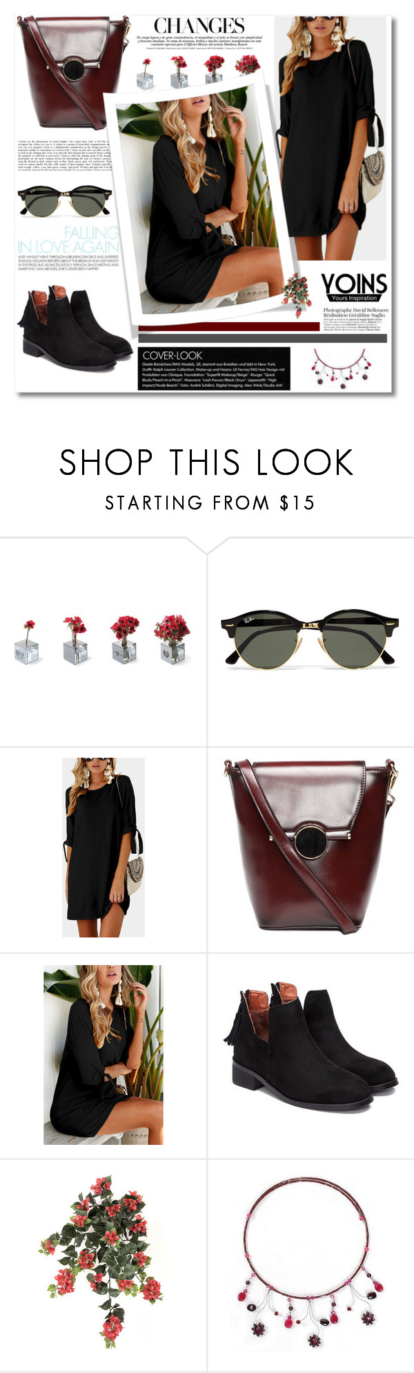 """Yoins 140"" by zulaltprk ❤ liked on Polyvore featuring Konstantin Slawinski, Ray-Ban, NOVICA, yoins, yoinscollection and loveyoins"