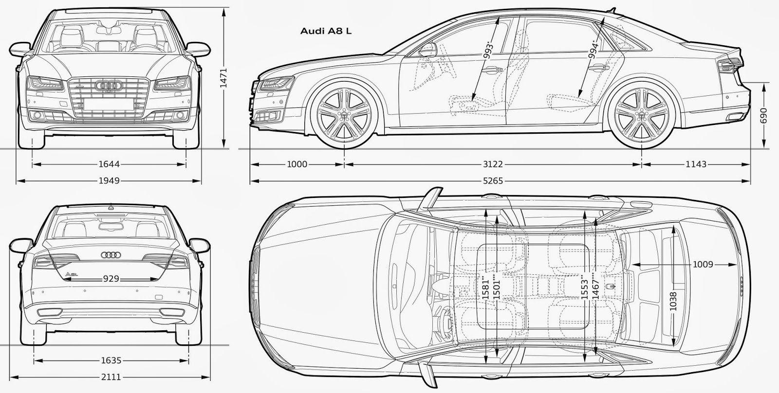 Audi A8 Blueprint With Images Audi A8 Blueprints Audi
