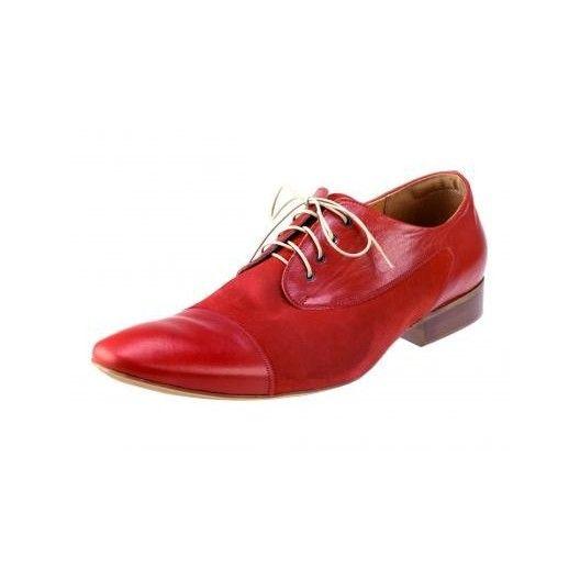 5f27a37ec9ef Pánske kožené spoločenské topánky červené PT171 - manozo.hu