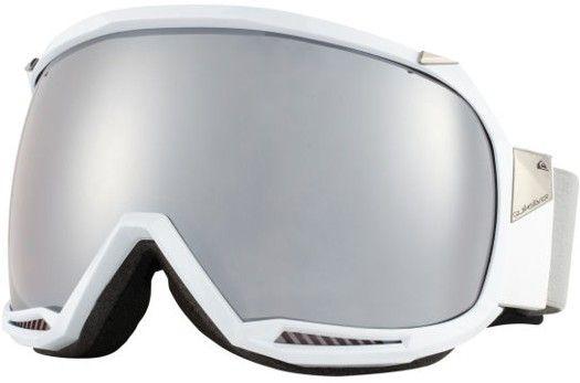 6ab6ca39051 Quiksilver Hubble Goggles - shiny white hd mirror lens - Snowboard Shop   Snowboard  Goggles   Men s Snowboard Goggles