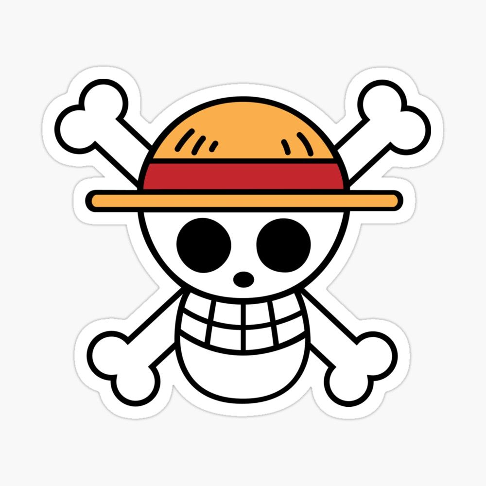 One Piece Straw Hat Pirates Sticker By Badrelnajjar Cute Stickers One Piece Stickers Sticker Anime